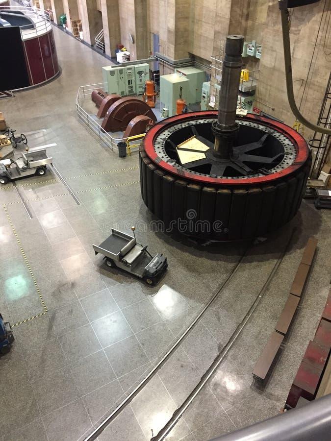 Hooverdamms-Kraftwerk lizenzfreie stockfotografie