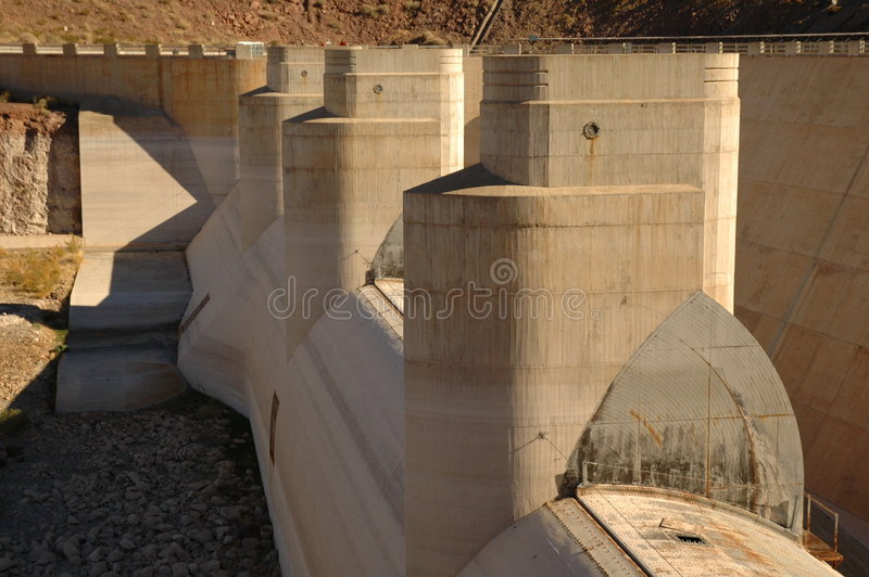 Hooverdamms-Pumpen stockfoto