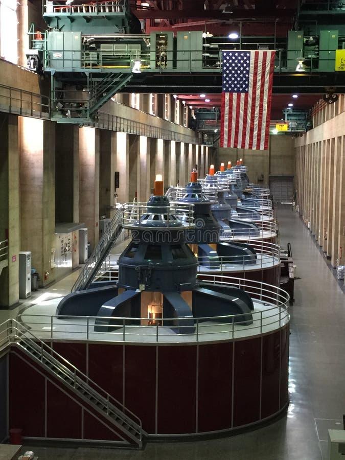 Hooverdamms-Turbinen stockbilder
