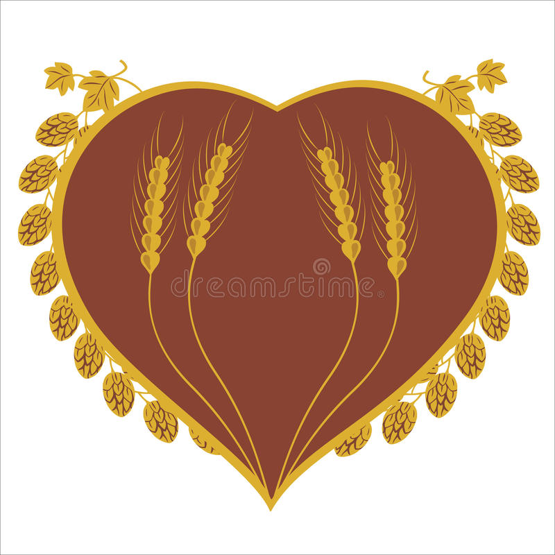 Free Hop And Corn Heart Design Royalty Free Stock Photography - 23140597
