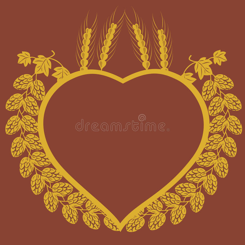 Download Hop And Corn Heart Design Stock Photo - Image: 23140620