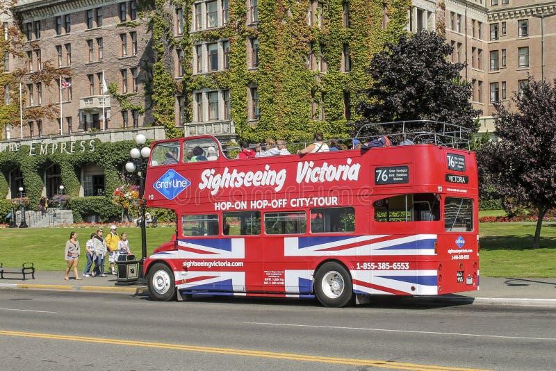 Hop in Hop van bus op Victoria, het Eiland van Vancouver, Canada stock afbeelding