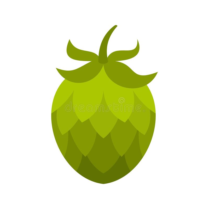 Hop icon, flat style. Hop icon. Flat illustration of hop vector icon isolated on white background vector illustration