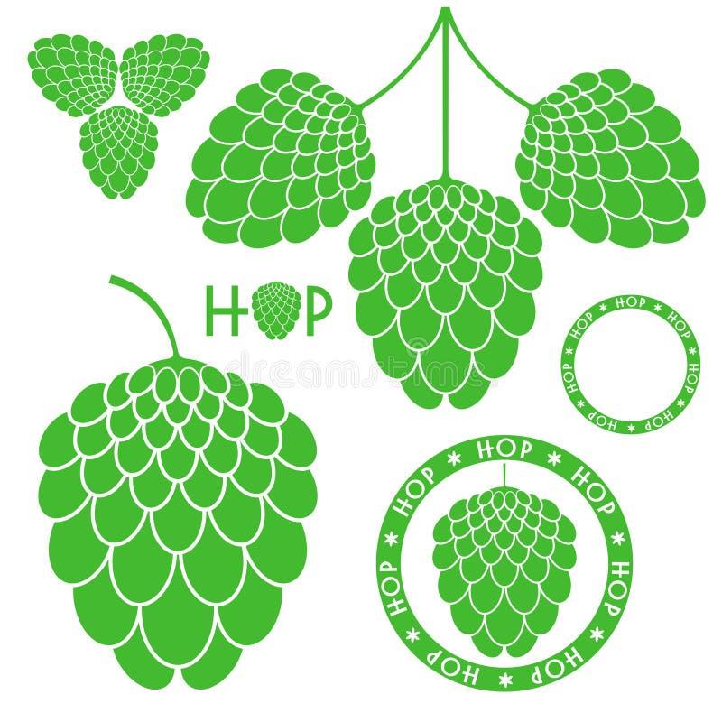 Hop. Isolated objects on white background. Vector illustration (EPS 10 stock illustration
