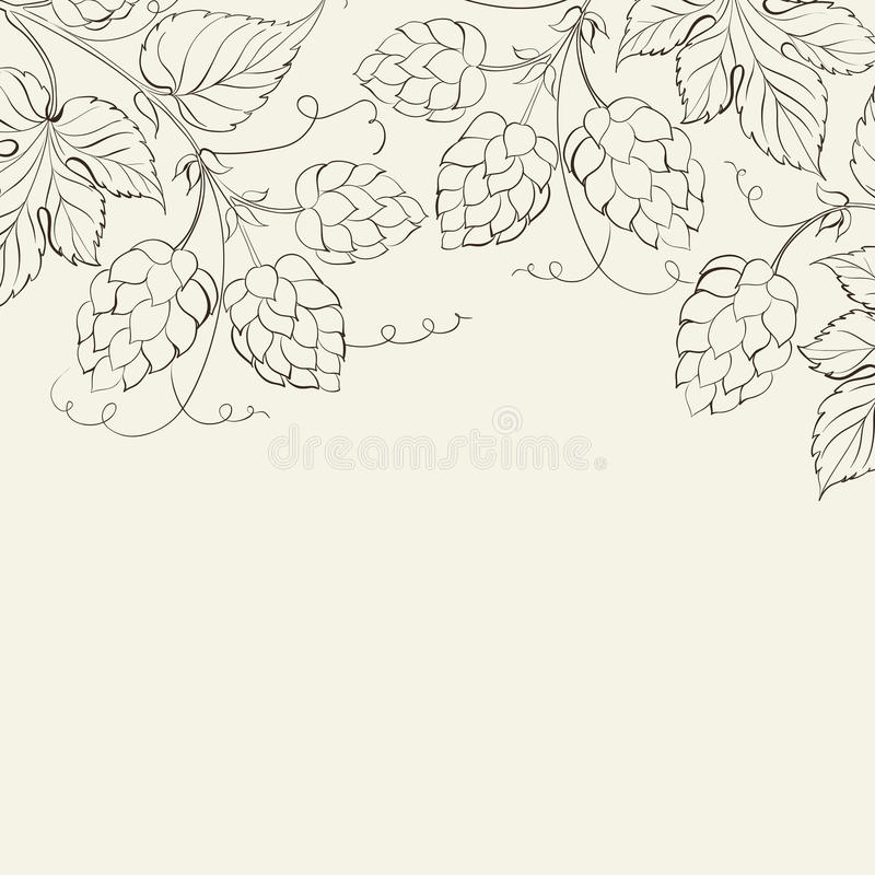 Hop. Vector illustration. This is file of EPS10 format royalty free illustration