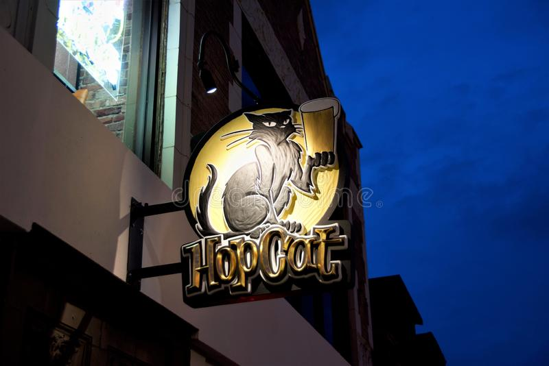 HopCat dans Del Mar Loop, St Louis Missouri photos stock