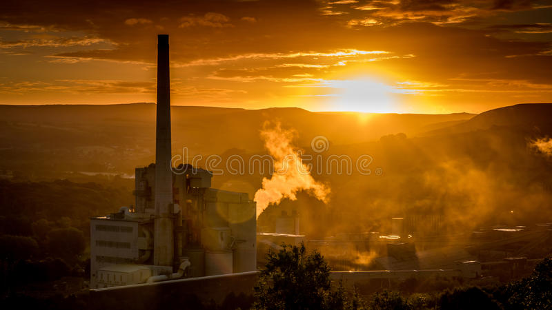 Hope Cement Works royalty free stock photography