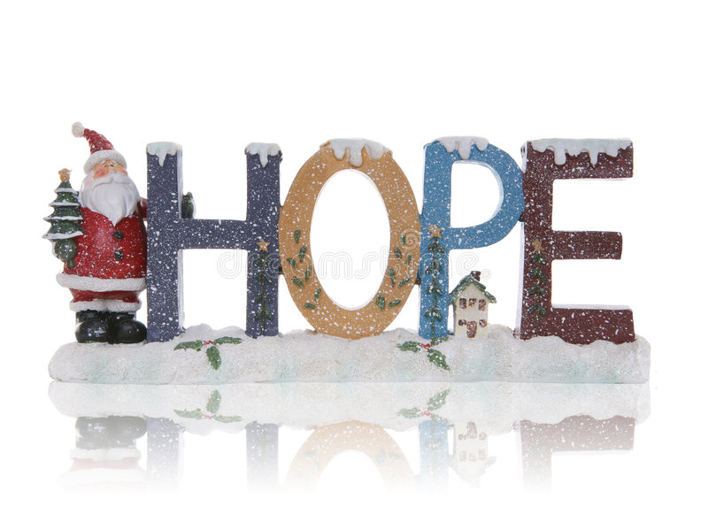 Hope Christmas Sign stock photography