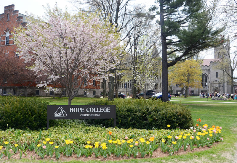Hope College sign royalty free stock images
