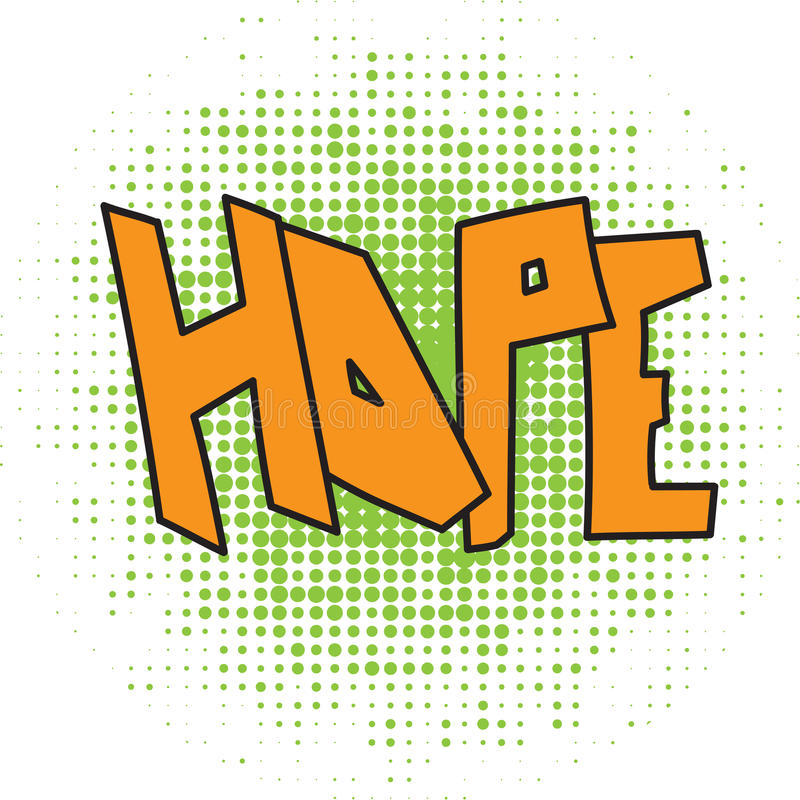 Hope comic word vector illustration