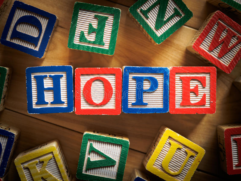 Download Hope concept stock photo. Image of sign, toys, wood, letters - 37660418