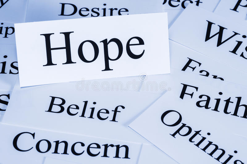Hope Concept stock image