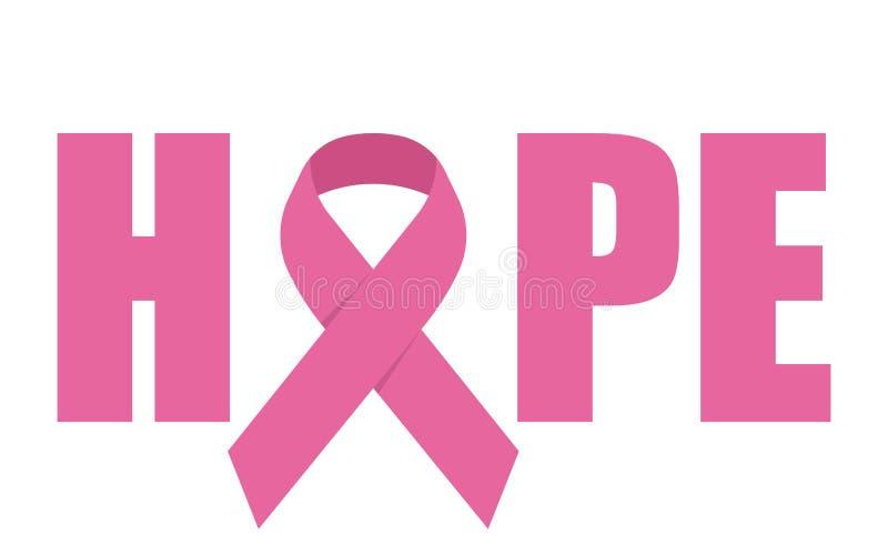 hope emblem with pink ribbon symbol stock vector vector cancer ribbon free free vector cancer ribbon download