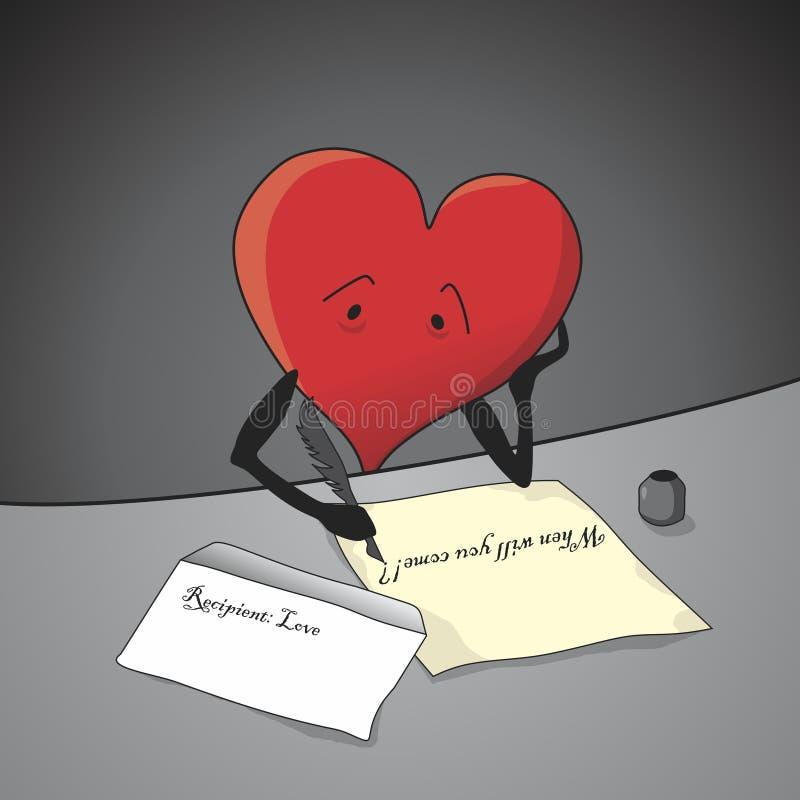 Hope. Heart always hopes for love. Vector format