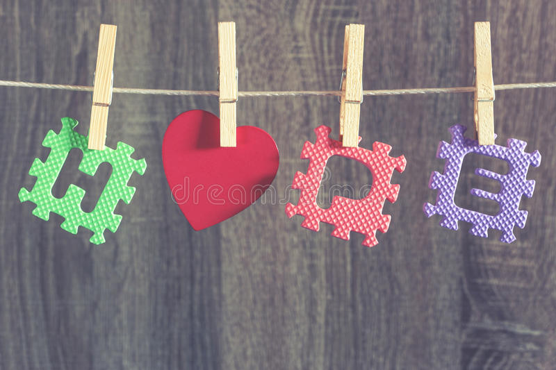 HOPE message with red heart royalty free stock photo