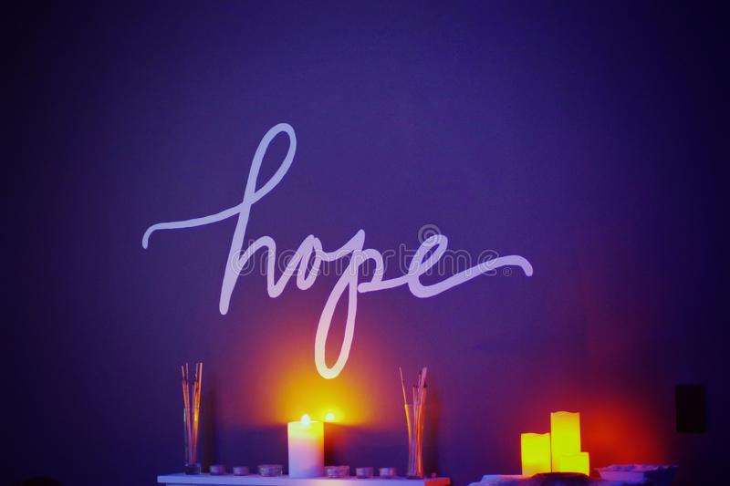 Candle Lit Hope stock images
