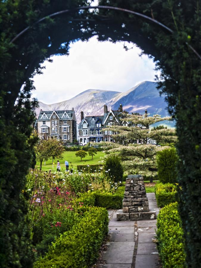 Hope Park in Keswick in north-western England, in the heart of the Lake District. Keswick is a market town in northwest England's Lake District National royalty free stock photos