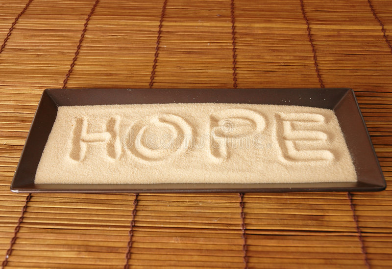 Hope on sand royalty free stock photos