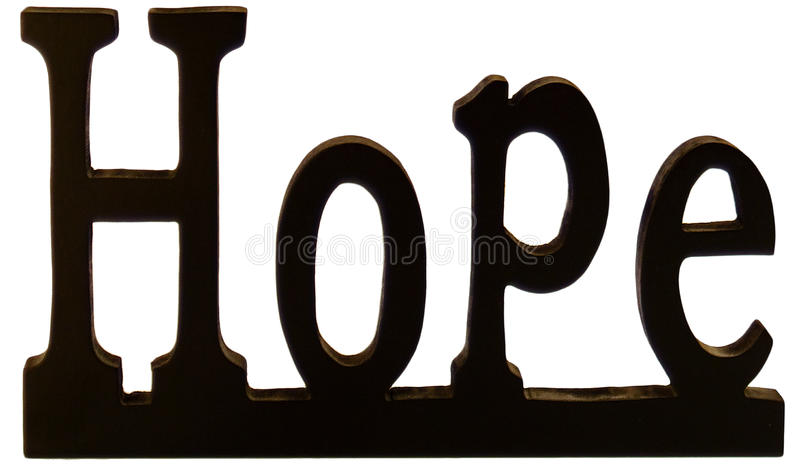 Download Hope sign stock image. Image of decor, word, sculpture - 9599507