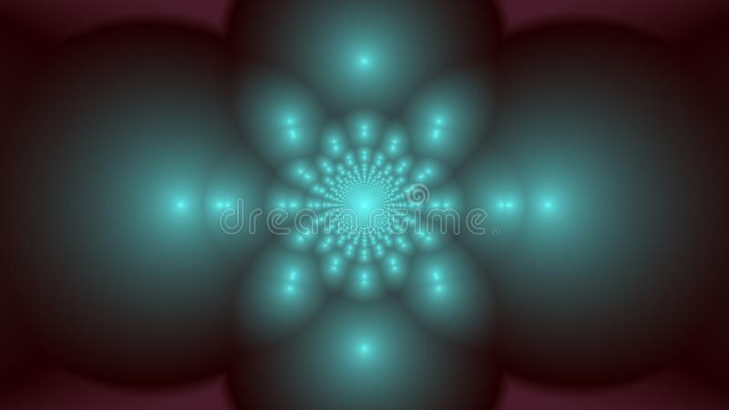 Hope springs eternal. Background of greyscale kaleidoscope of spheres in a pale blurry setting in widescreen vector illustration