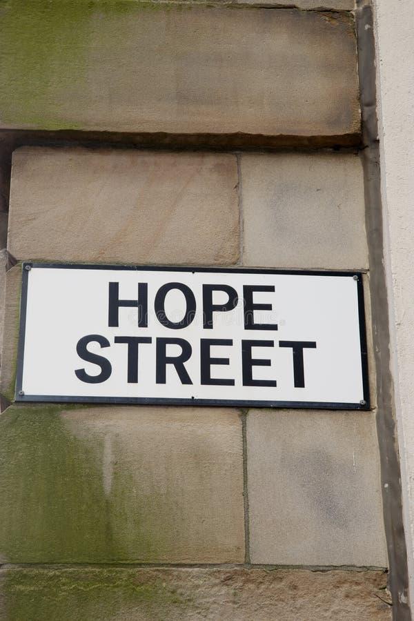 Hope Street Sign, Manchester. England, UK stock photos