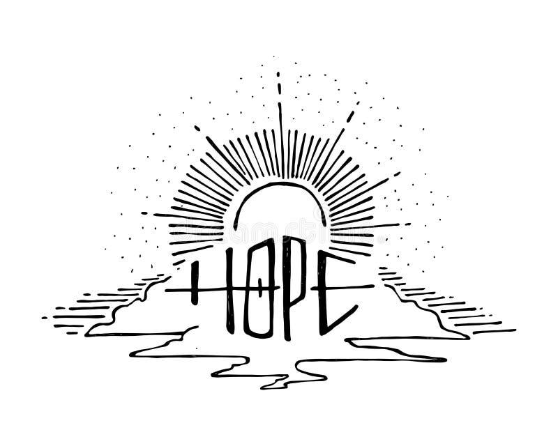 Hope symbol illustration stock illustration