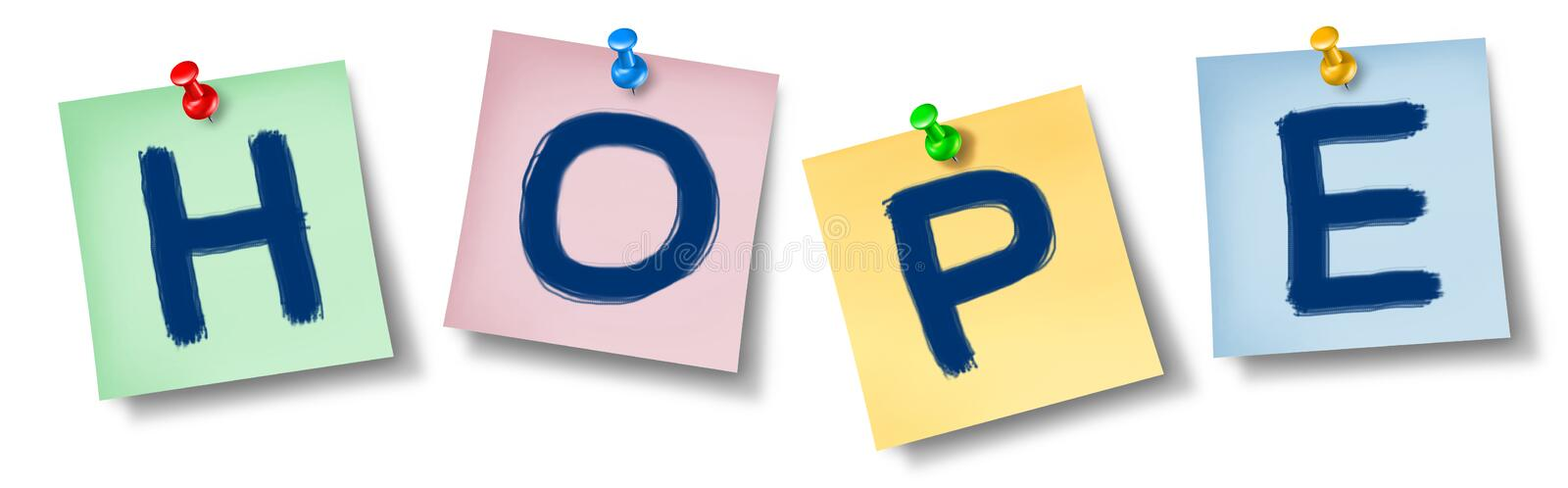 Hope Symbol On Office Notes Royalty Free Stock Photography