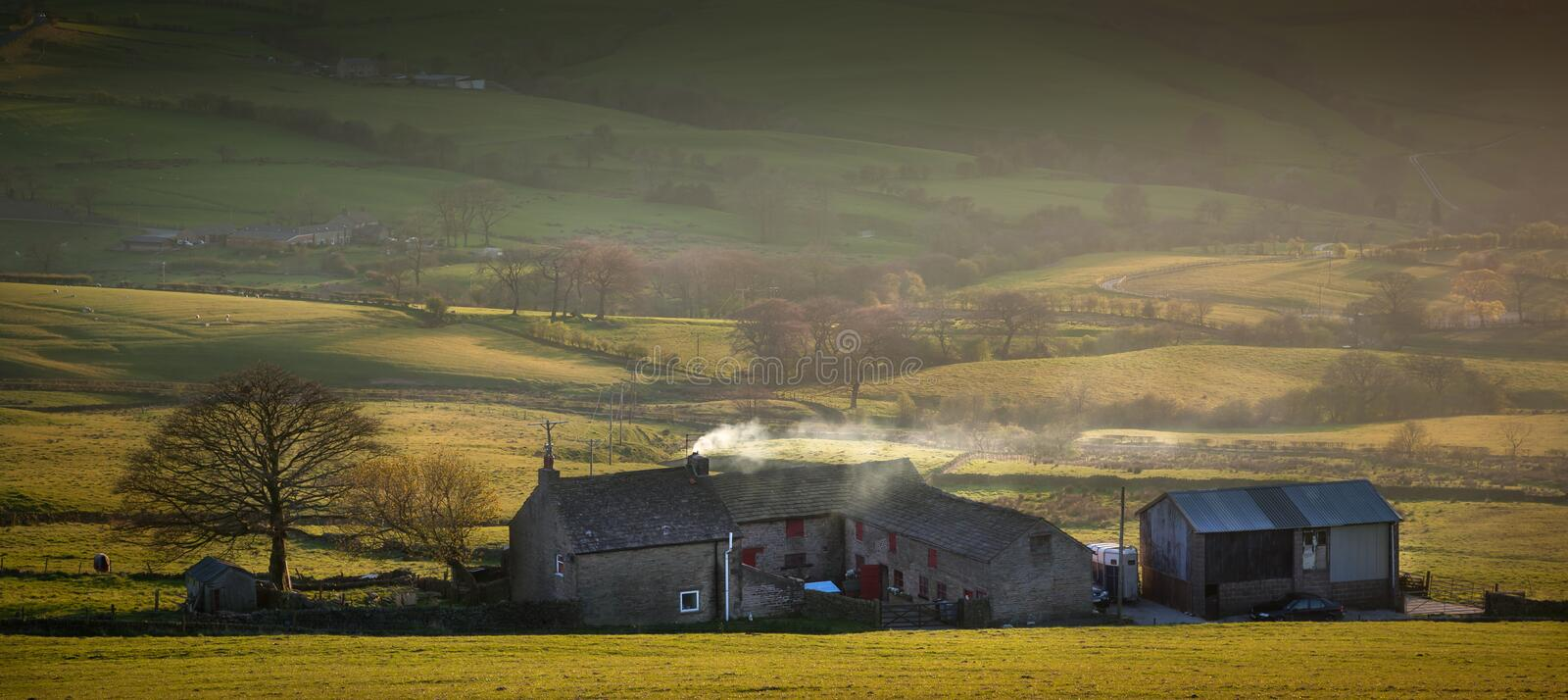 Hope Valley Farm House. Farm house in the Hope valley, in the North west of England, an idyllic English countryside stock images