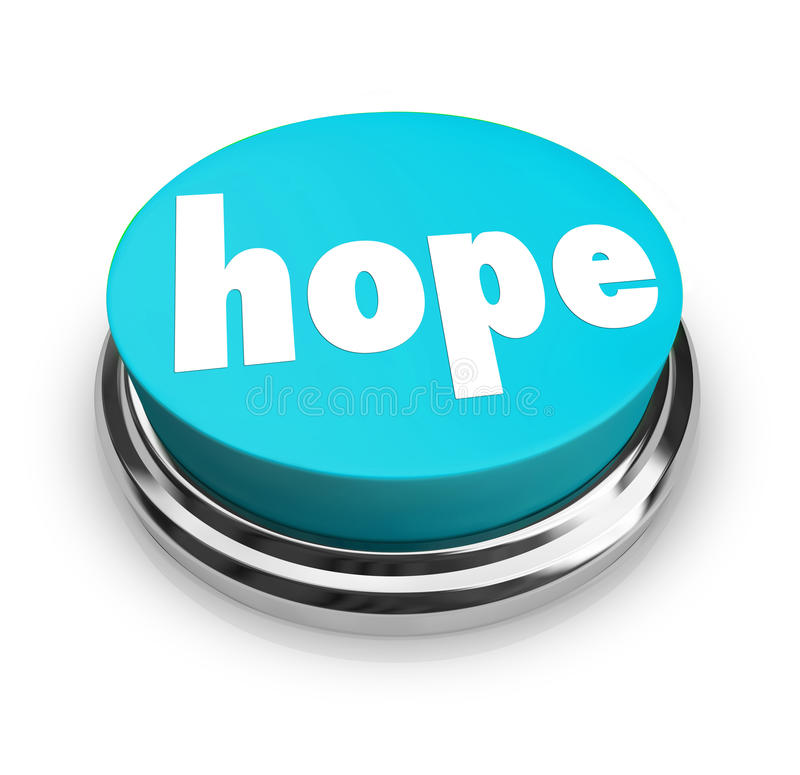 Hope Word Button Faith Spirituality Religion stock illustration