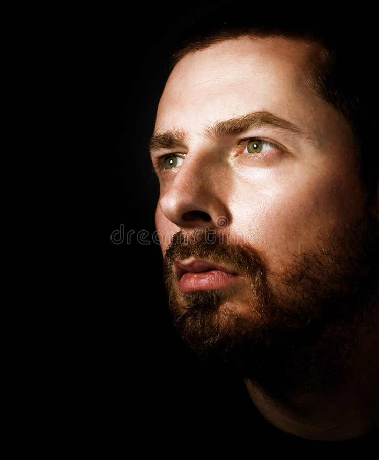 Free Hopeful Man Looking Into The Light Royalty Free Stock Photography - 6070097