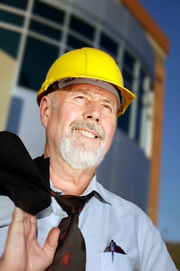 Hopeful, successful engineer royalty free stock photo