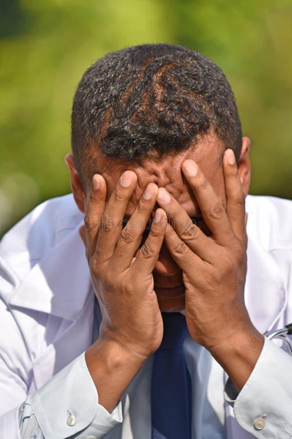 Hopeloze Mannelijke Dokter stock afbeelding