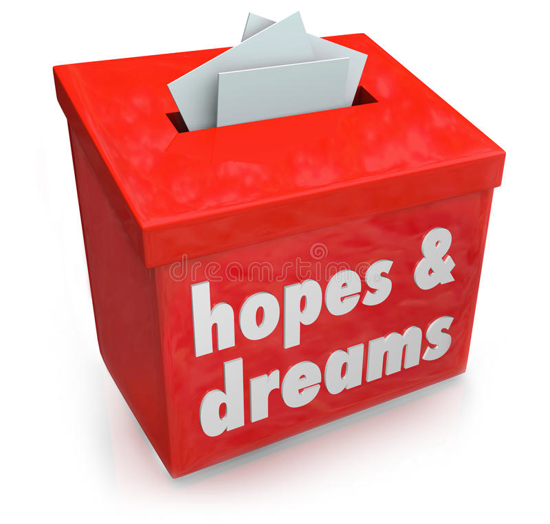 Free Hopes Dreams Box Collecting Desires Wants Yearning Ambitions Royalty Free Stock Images - 40452699