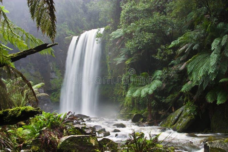 Hopetoun Falls in Victoria, Australia stock photos