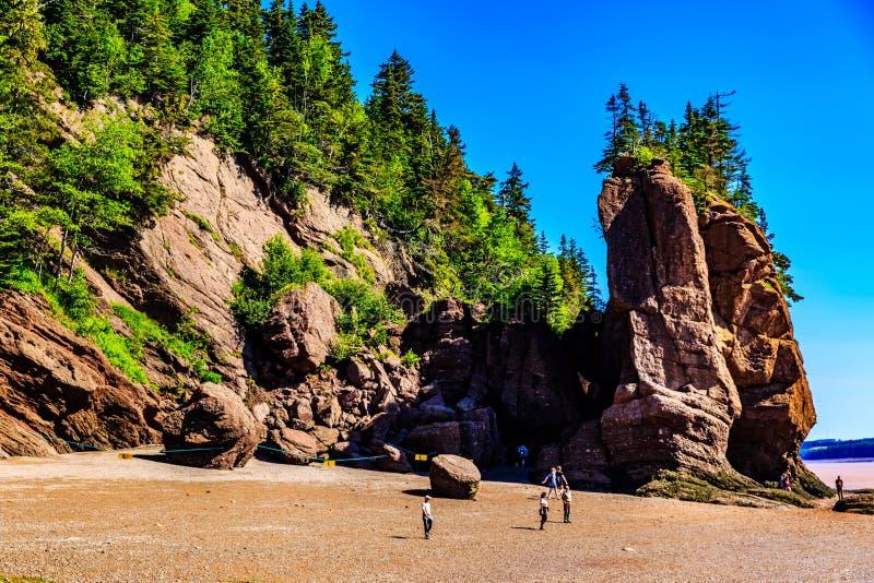 Hopewell Felsen, New-Brunswick, Kanada stockbild