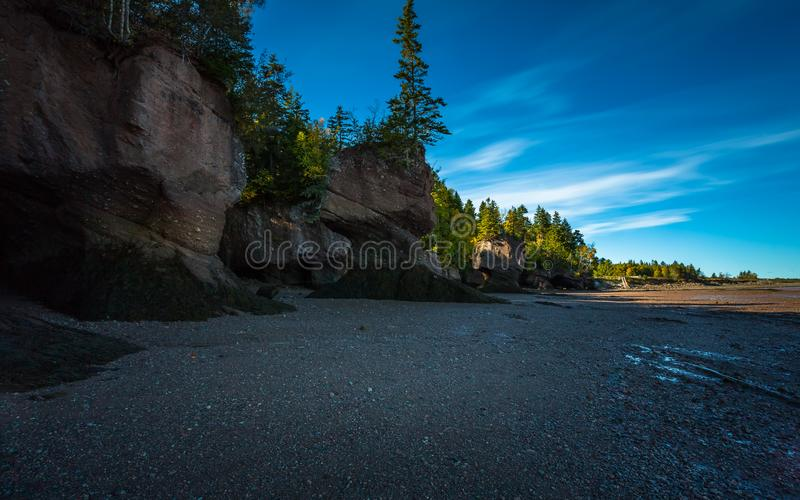 Hopewell Rocks at Low Tide stock photography