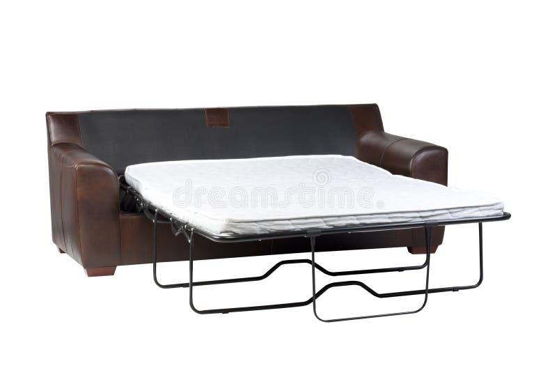 hopfällbar sofa för underlag royaltyfri bild