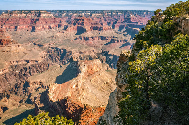 Hopi Point View i Grand Canyon arkivfoto