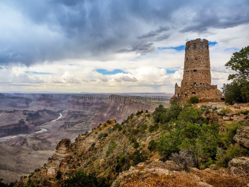 Hopi watch tower at Grand Canyon, south rim, Arizona. USA royalty free stock photography