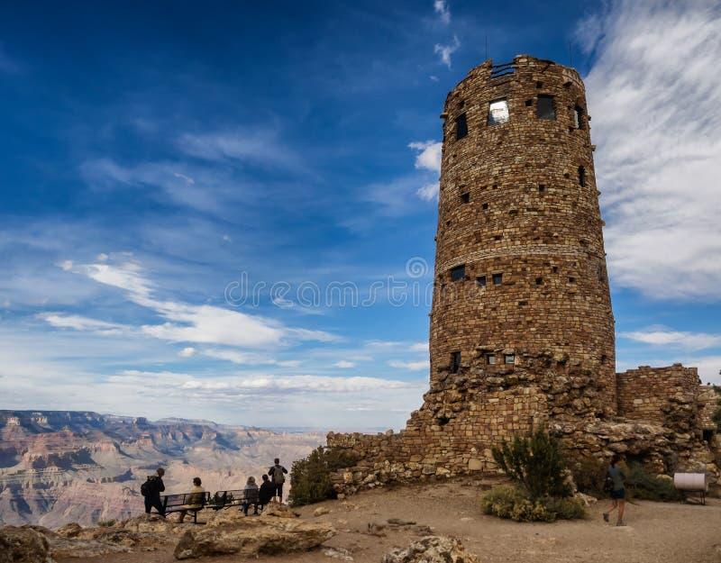 Hopi watch tower at Grand Canyon, south rim, Arizona. USA royalty free stock images