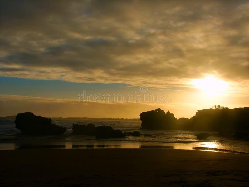 Hopkins-Fluss-Sonnenuntergang Australien lizenzfreie stockfotos