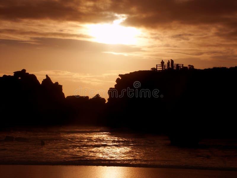 Hopkins-Fluss-Sonnenuntergang Warrnambool Australien stockfoto