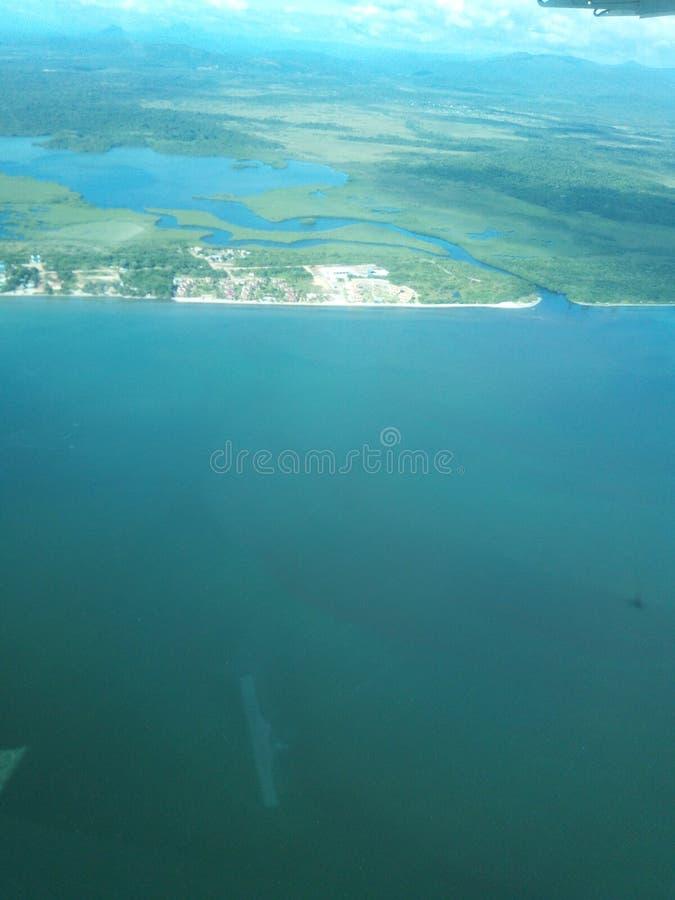 Hopkins, insenatura di Stann, Belize fotografia stock