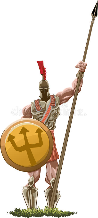Hoplite royalty free illustration