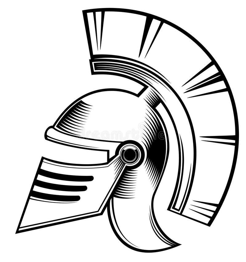 Hoplite helm stock illustratie