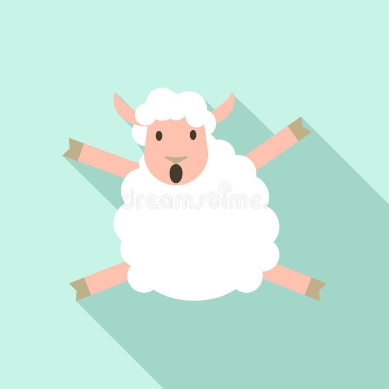 Hoppa fårsymbolen, plan stil stock illustrationer