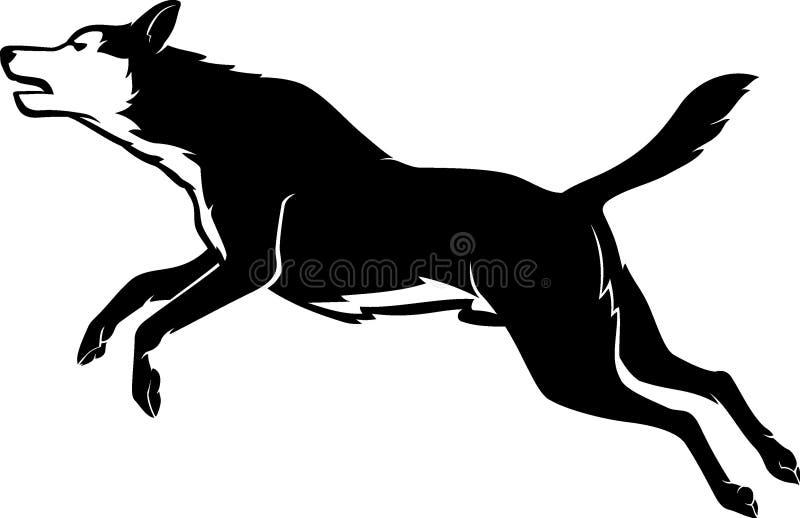 Hoppa för älsklings- hund vektor illustrationer