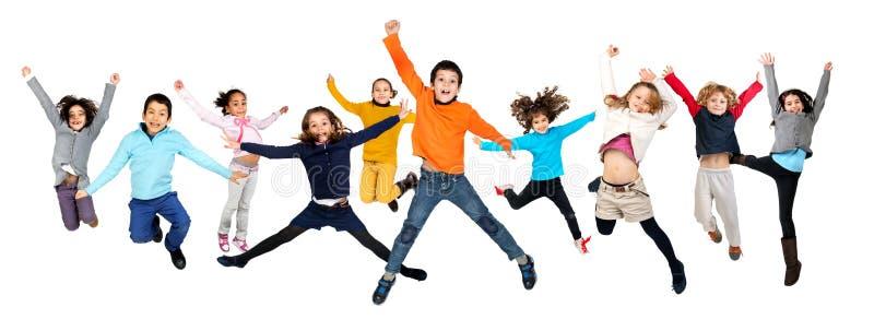 Hoppa för barn royaltyfri foto