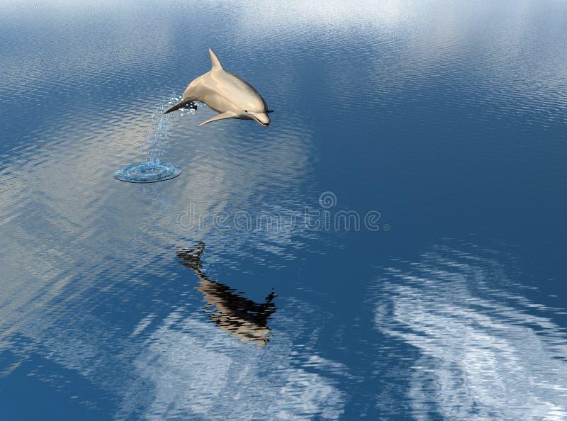 hoppa för delfin royaltyfri illustrationer