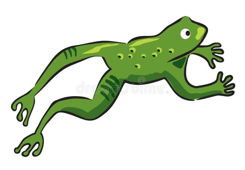hoppa för groda stock illustrationer